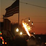 fowlerville christmas in the ville american flag