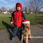 fowlerville christmas in the ville kid and dog